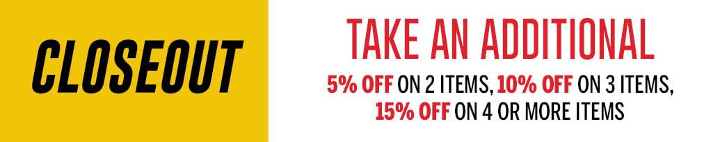 Closeout sale information