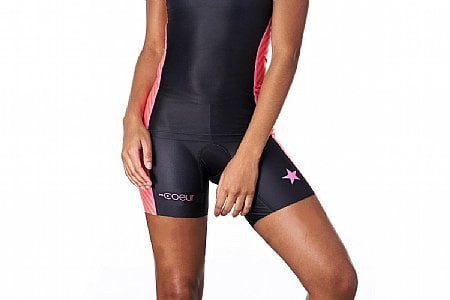 "Coeur Sports Womens Lucky Star 5"" Tri Shorts"