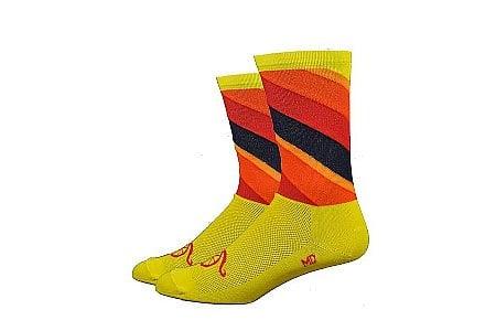 DeFeet Handlebar Mustache Aireator 6 Inch Sock