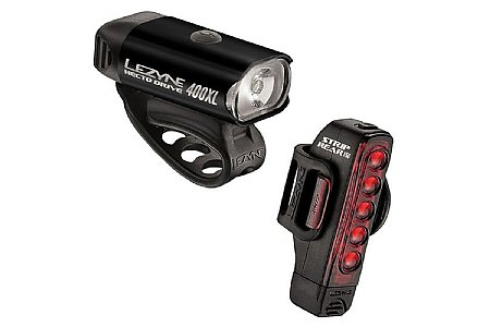 Lezyne Hecto 400XL Front / Strip Drive Rear Light Set