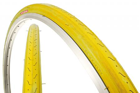 Full Solid Yellow Duro 27x1 1//4 Road Bike Bicycle Vintage 10 Spd Clincher Tires