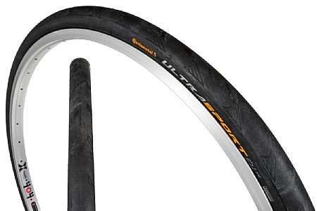 "Continental Ultra Sport II Wire Bead Tire 27 x 1 1//8/"" Black"