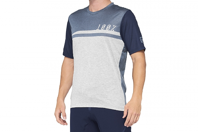 100% Mens Airmatic Jersey Steel Blue/Grey