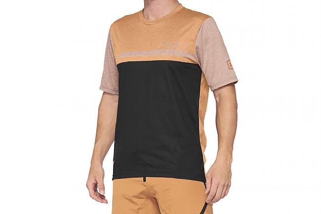 100% Mens Airmatic Jersey Caramel/Black
