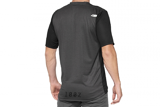 100% Mens Airmatic Jersey Black/Charcoal