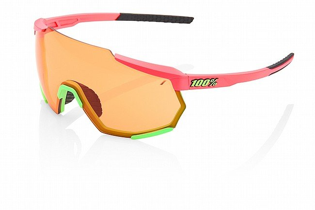 100% Racetrap Matte Washed Out Neon Pink/Persimmon Lens