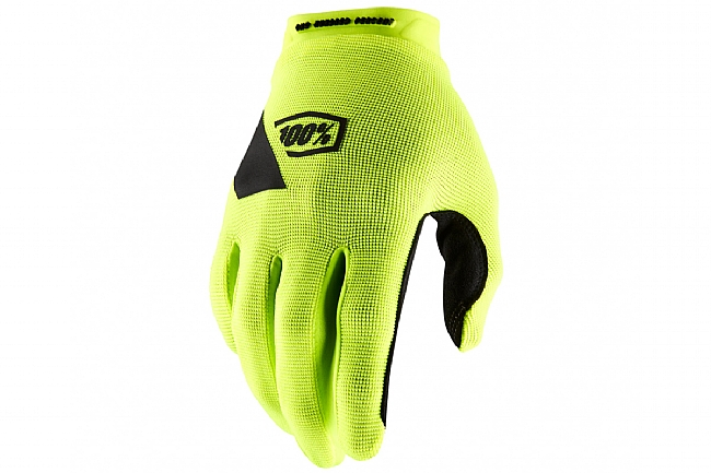 100% Ridecamp Gloves Fluo Yellow