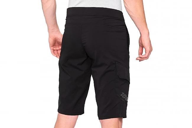 100% Mens Ridecamp Shorts Black