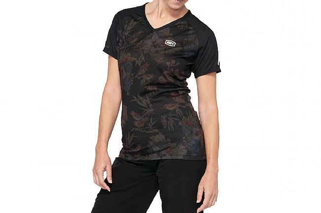 100% Womens Airmatic Jersey Black Floral
