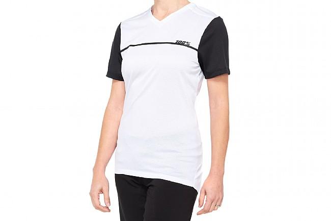 100% Womens Ridecamp Jersey White/Black
