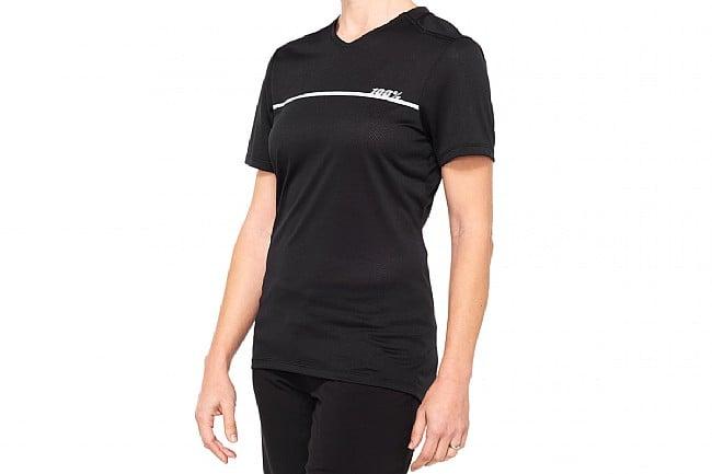 100% Womens Ridecamp Jersey Black/Grey