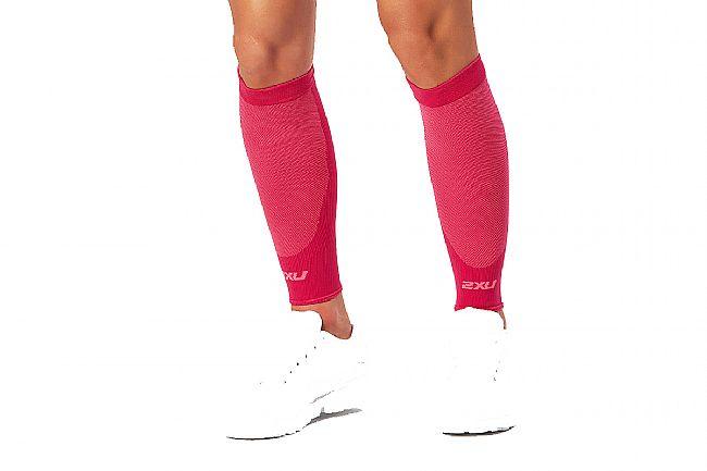 2XU Compression Performance Run Sleeves Hot Pink/Hot Pink - XS