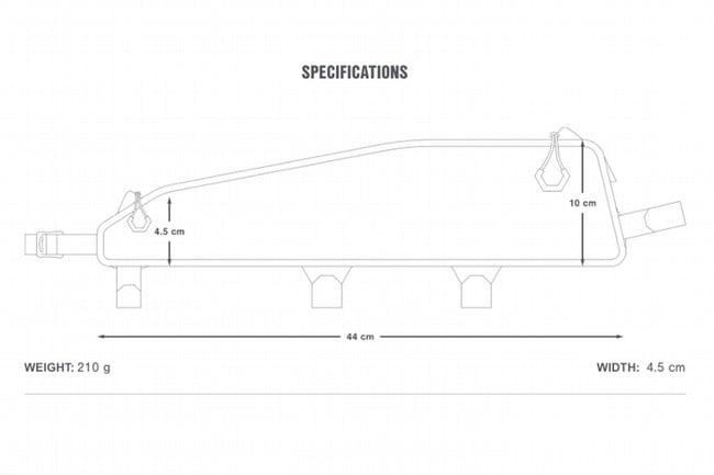 Apidura Racing Top Tube Pack Large (Long) - 2L