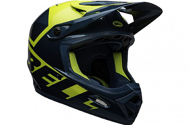 Bell Transfer Full Face MTB Helmet Slice Gloss Blue/Hi-Viz