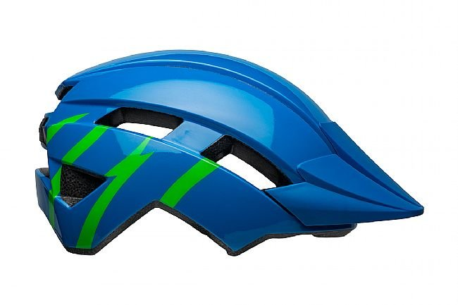 Bell Sidetrack II Youth Helmet Strike Gloss Blue/Green