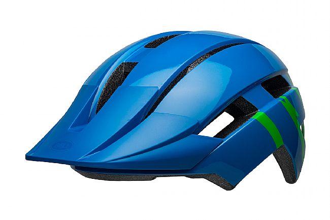 Bell Sidetrack II Child Helmet Strike Gloss Blue/Green