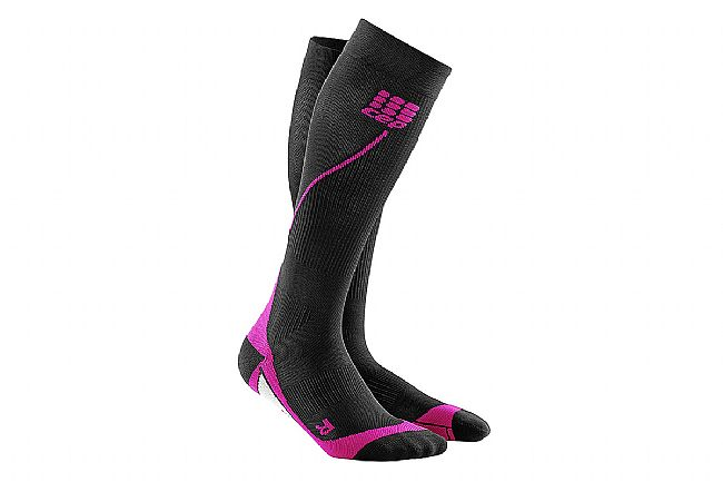 CEP Womens Progressive+ Compression Run Socks 2.0 Black/Pink - II