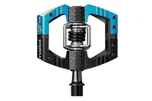 Crank Bros Mallet E Pedals Long Spindle - Black/Blue