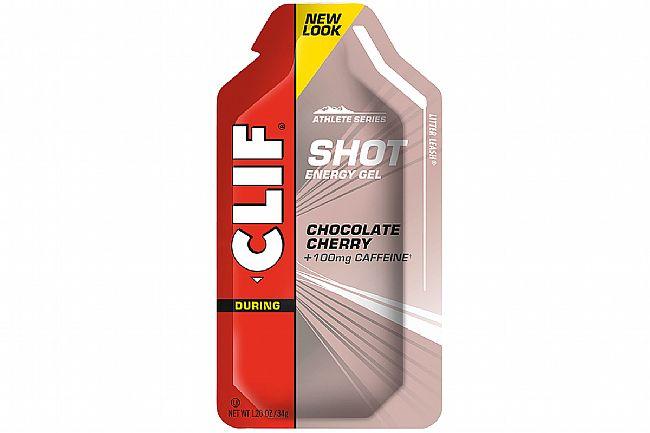 Clif Shot Energy Gels (Box of 24) Chocolate Cherry Turbo w/ 100mg Caffeine