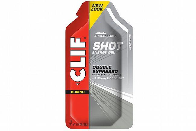 Clif Shot Energy Gels (Box of 24) Double Espresso Turbo w/ 100mg caffeine