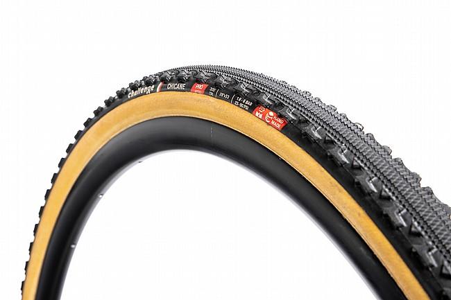 Challenge Chicane Pro Tubular Tire  Black/Tan - 700c x 33mm