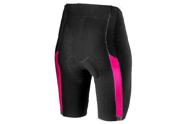 Castelli Womens Velocissima 2 Short Black/Pink Fluo