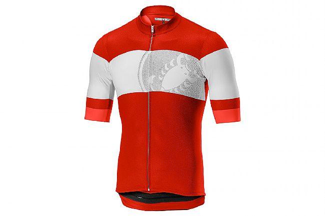 Castelli Mens Ruota Jersey FZ Red