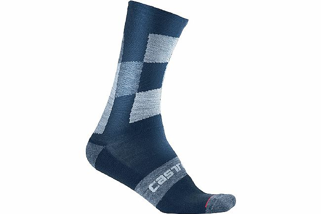 Castelli Mens Diverso 2 18 Sock Dark Infinity Blue