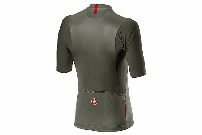 Castelli Mens Unlimited Jersey Forest Grey/Red