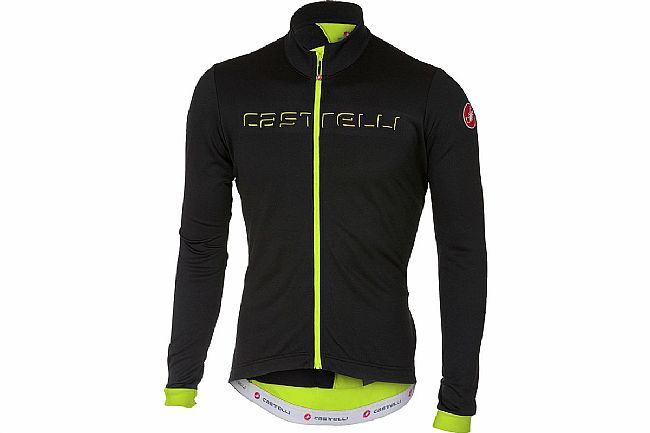 Castelli Mens Fondo Jersey Light black/Yellow fluo