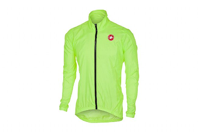 Castelli Mens Squadra ER Jacket Yellow Fluo