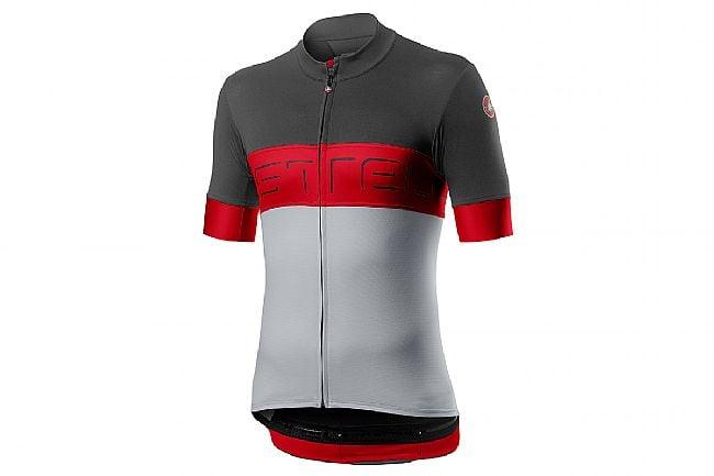 Castelli Mens Prologo VI Jersey Dark Grey/ Red/ Silver Grey