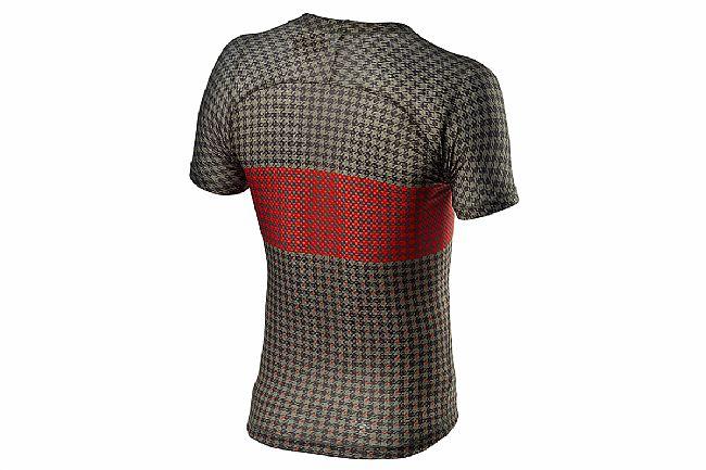 Castelli Mens Pro Mesh Short Sleeve Baselayer Bark Green/Fiery Red