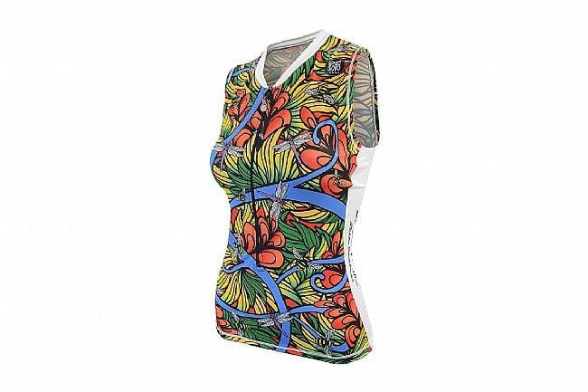 De Soto Womens Skin Cooler Sleeveless Tri Top Jungle