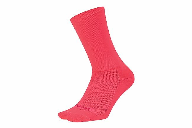 DeFeet Aireator 6 Inch Sock - D-Logo Flamingo Pink