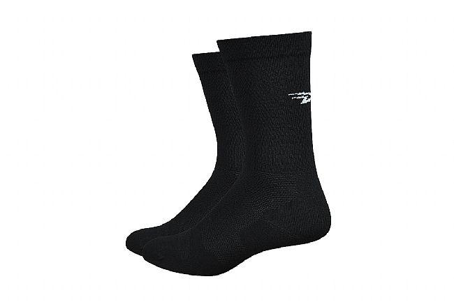 DeFeet Levitator Lite 6 Inch Sock Black w/White D-Logo
