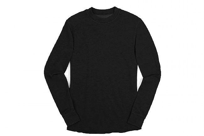 Chrome Mens Wool Crewneck Long Sleeve Shirt Black