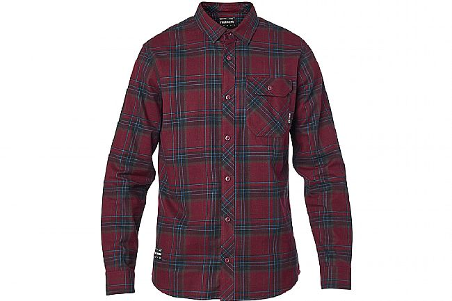 Fox Racing Mens Gamut Stretch Flannel Cranberry