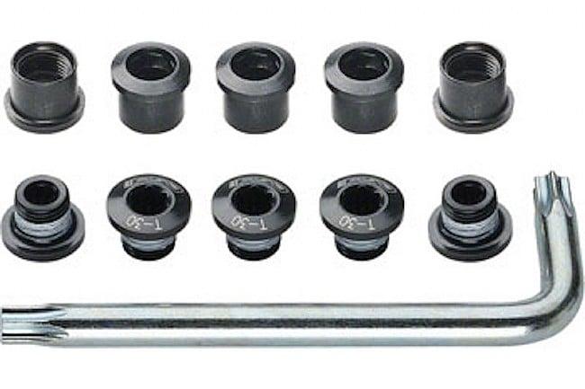 FSA Torx T-30 Alloy Double Chainring Nut/Bolt Set  FSA Torx T-30 Alloy Double Chainring Nut/Bolt Set