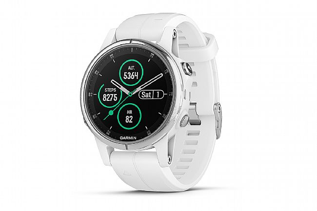 Garmin Fenix 5S Plus Sapphire GPS Watch White/Carrara White