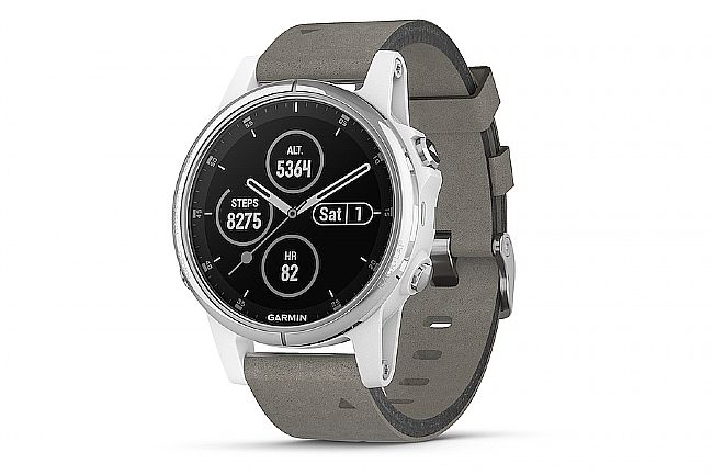 Garmin Fenix 5S Plus Sapphire Grey Suede GPS Watch White - Grey Suede Band