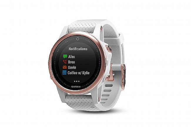 Garmin Fenix 5S Sapphire GPS Watch Rose Goldtone - White Band