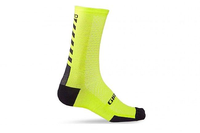 Giro HRC Merino Wool Sock Bright Lime - Medium