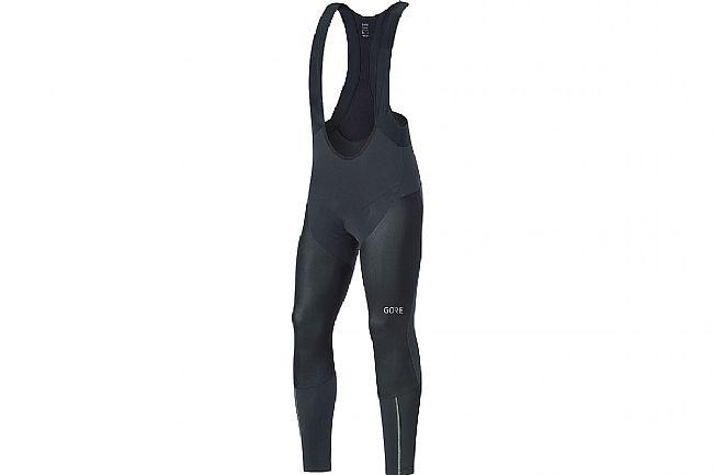 Gore Wear Mens C7 Partial Windstopper Pro Bib Tights + Black