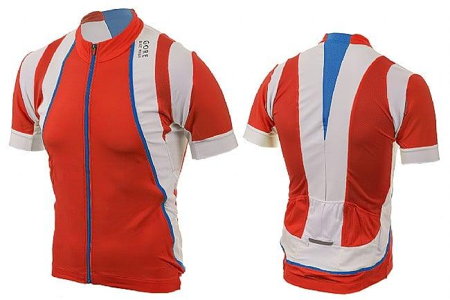 Gore Wear Mens Oxygen Jersey Red/White/Splash Blue