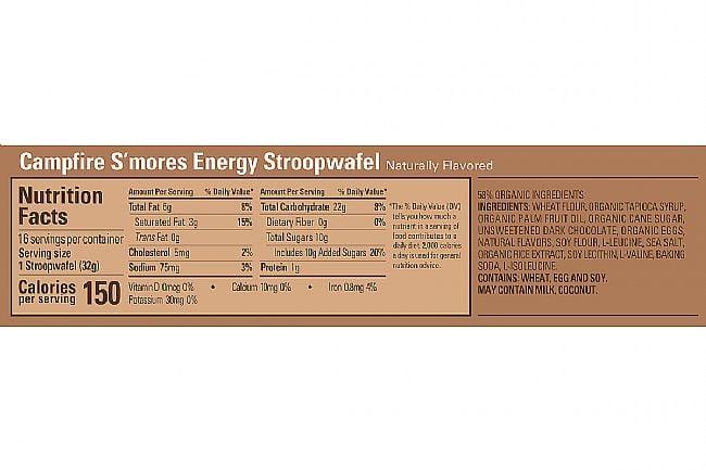 GU Energy Stroopwafel (Box of 16) Campfire Smores Nutrition Facts