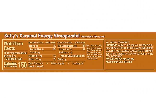 GU Energy Stroopwafel (Box of 16) Salty Caramel Nutrition Facts