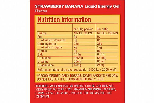 GU Liquid Energy Gel (Box of 12) Strawberry Banana