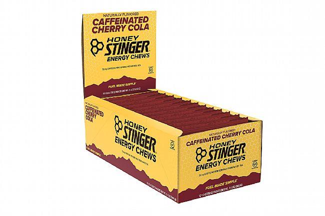 Honey Stinger Organic Energy Chews (Box of 12) Cherry Cola (with Caffeine)