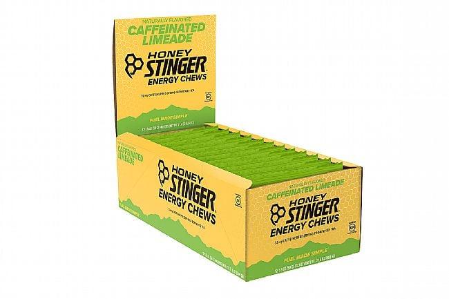 Honey Stinger Organic Energy Chews (Box of 12) Limeade (with Caffeine)